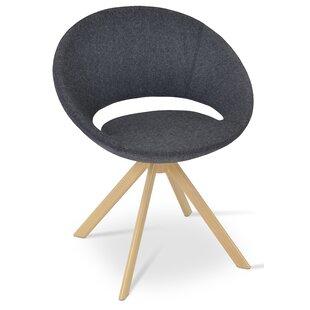 Crescent Sword Swivel Papasan Chair by sohoConcept