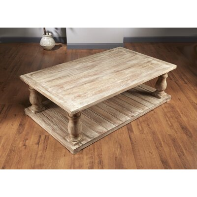 """Foundry Select Dickens Four Column Coffee Table  Size: 20.5"""" H x 54"""" W x 30"""" D, Color: Sand"""