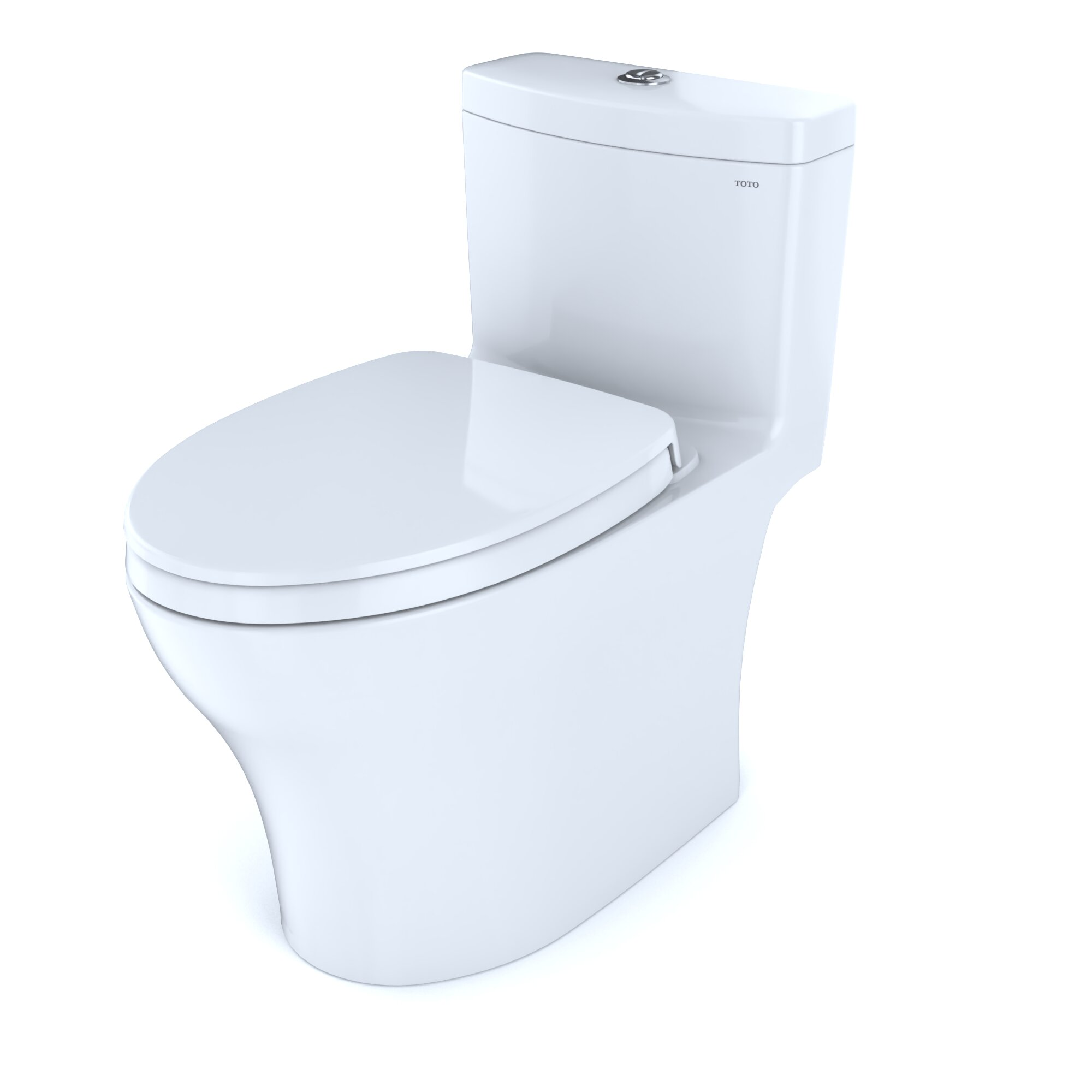 Toto Aquia Iv Dual Flush Elongated One Piece Toilet Seat Included Reviews Wayfair