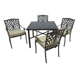 Verdi 5 Piece Dining Set with Cushions