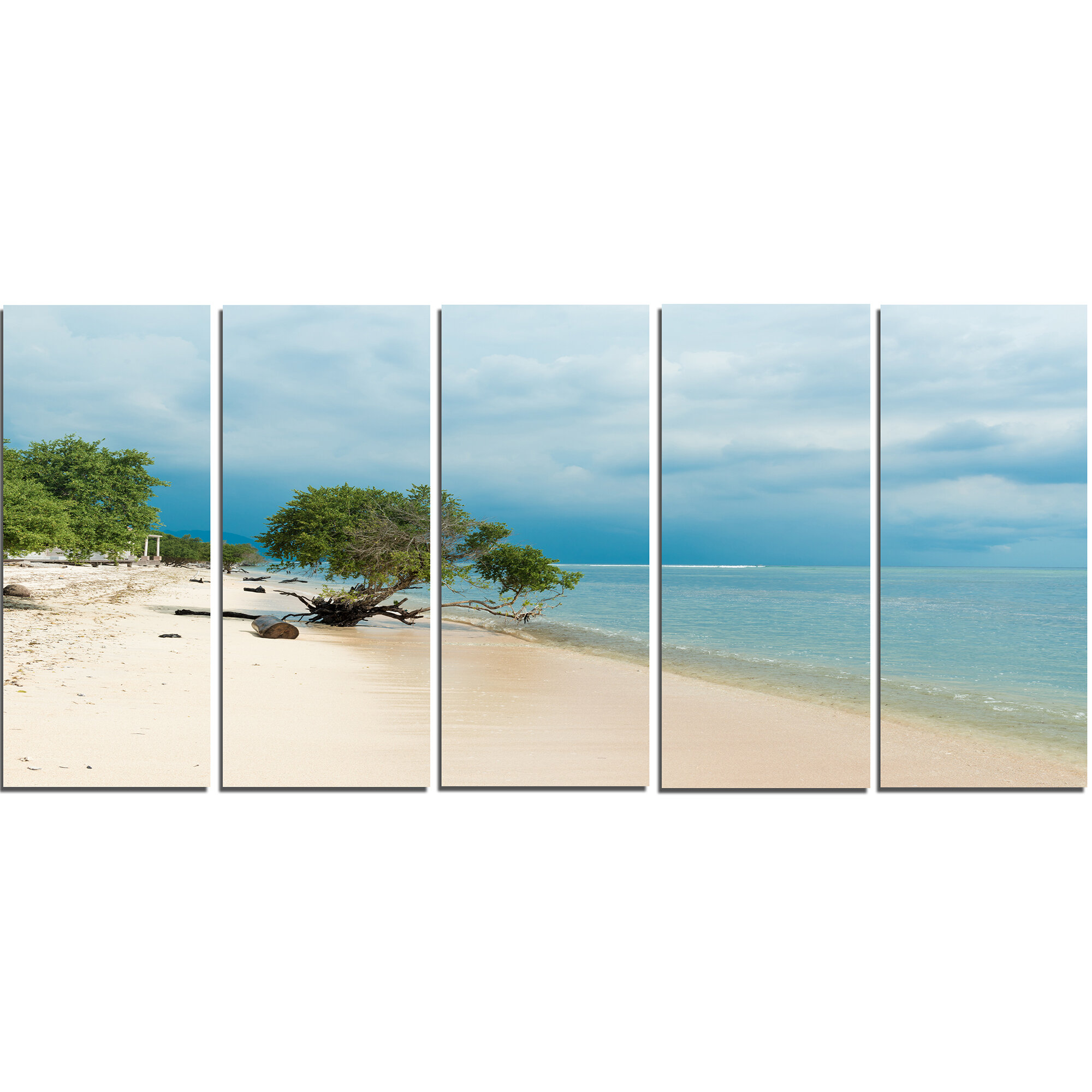 Designart Beautiful Coastline In Indonesia 5 Piece Wall Art On Wrapped Canvas Set Wayfair