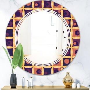 Triple C Grid Modern Frameless Wall Mirror by East Urban Home