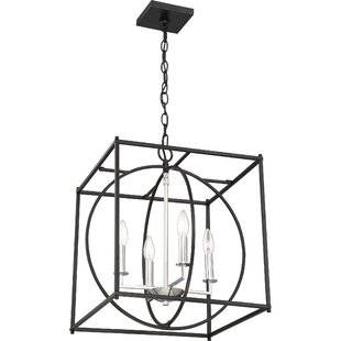 Wrought Studio Theobald 4-Light Square/Rectangle Chandelier