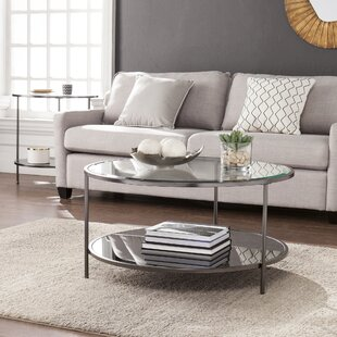 Round Mirrored Coffee Tables Youu0027ll Love | Wayfair