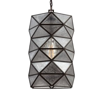 Mistana Rosalina 1-Light Mini Pendant with Mercury Glass