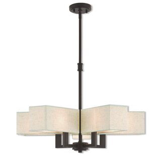 Latitude Run Bigham 5-Light Shaded Chandelier
