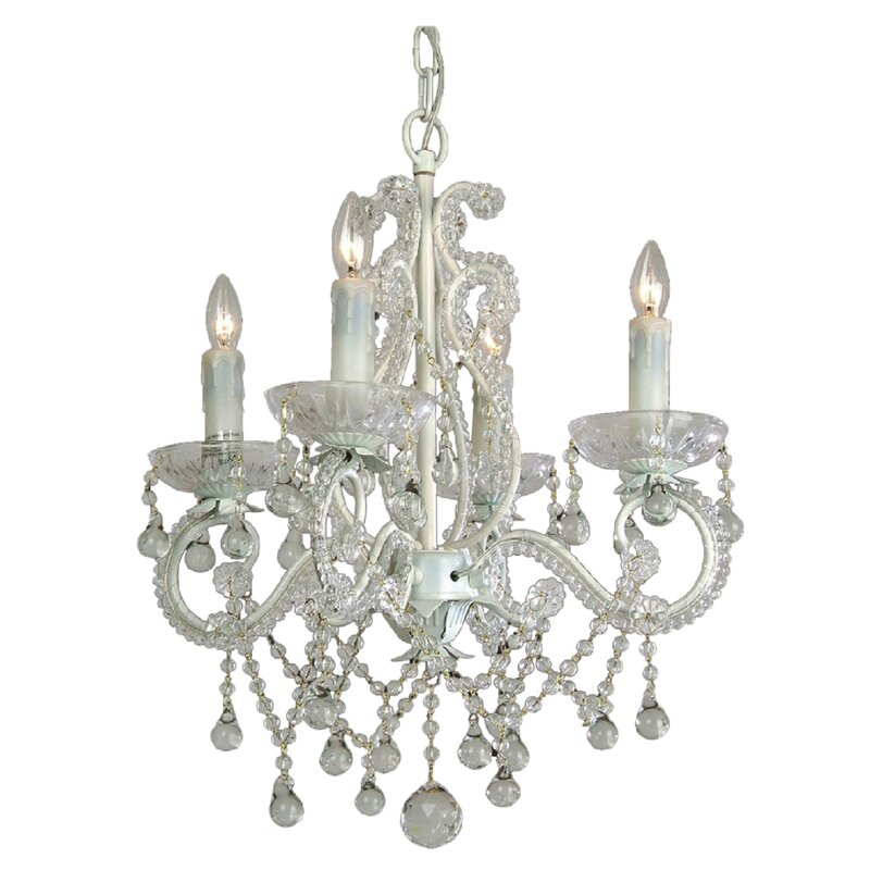 House of Hampton Chon 4-Light Crystal Chandelier