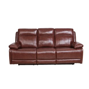 Nicolette Genuine Leather 3 Seater Reclining Sofa By Ebern Designs