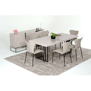 Glasgow Metal Base Dining Table by Wade Logan
