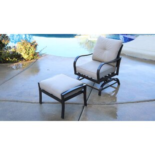 Bevins North Ridge Patio Chair with Cushions and Ottoman