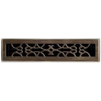 Brass Elegans 2 25 X 10 Solid Cast Brass Floor Register Trim In Polished Brass Wayfair