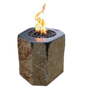 Derby Stone Gas Fire Column By Elementi