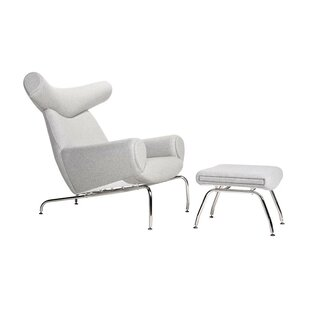 Orren Ellis Mariah Lounge Chair and Ottoman (Set of 2)