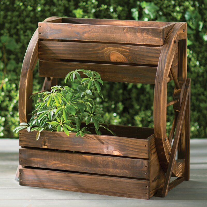 Fir Wood Raised Garden Planter