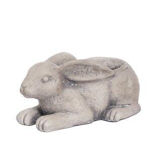 Platt Rabbit Metal Statue Planter Image