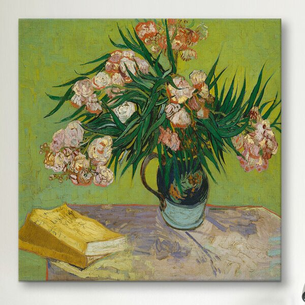 'Oleander' by Vincent van Gogh Painting Green Wall Art | Green Wall Decor