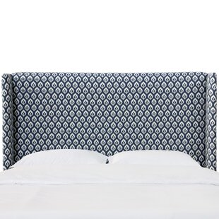 Ali Floral California King Upholstered Wingback Headboard