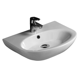 Big Save Infinity Vitreous China 20 Wall Mount Bathroom Sink with Overflow By Barclay