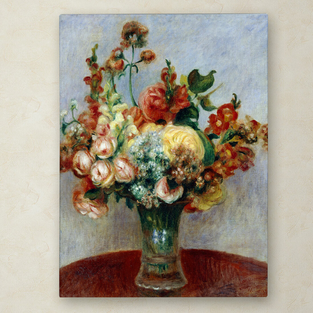 Trademark art flowers in a vase 1898 by pierre auguste renoir trademark art flowers in a vase 1898 by pierre auguste renoir painting print on wrapped canvas reviews wayfair floridaeventfo Images
