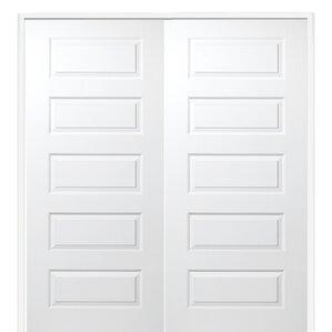 rockport mdf 5 panel primed prehung interior door