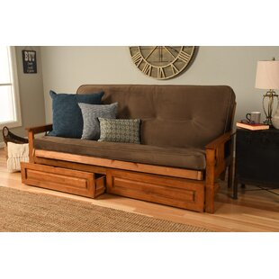 Leavittsburg Futon and Mattress with Storage Drawers