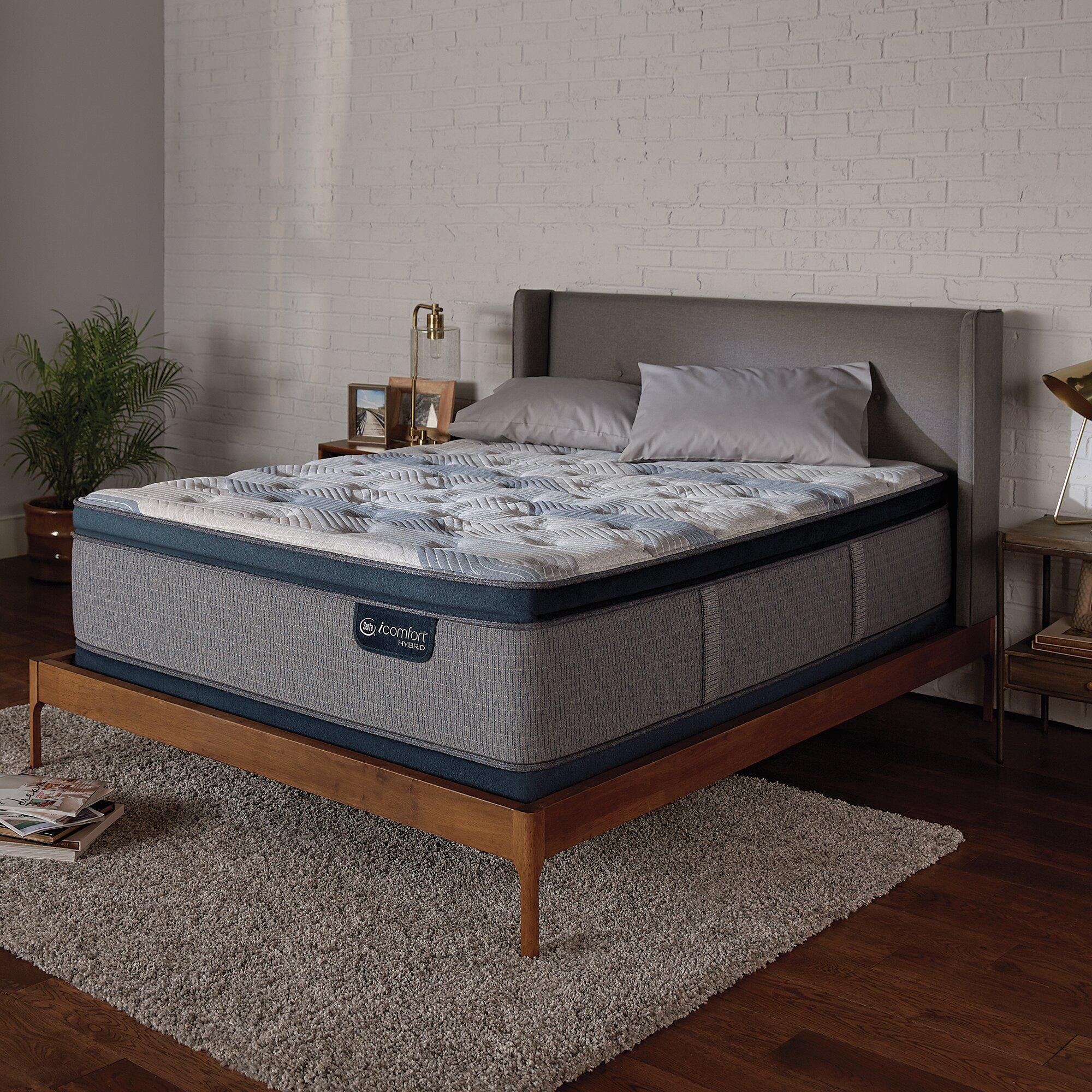 Serta Icomfort 14 Plush Pillow Top Hybrid Mattress And Box Spring Reviews Wayfair