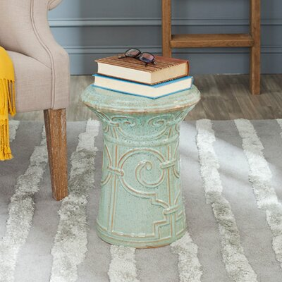 Awe Inspiring Safavieh Imperial Scroll Garden Stool Color Reactive Aqua Andrewgaddart Wooden Chair Designs For Living Room Andrewgaddartcom
