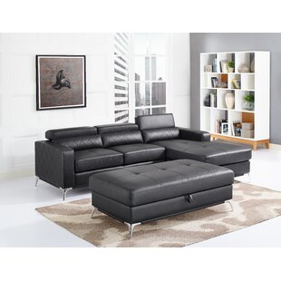 Aenwood Sectional with Ottoman