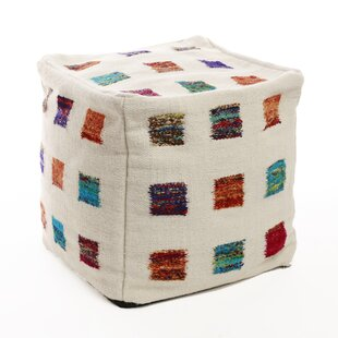 Colorful Patchwork Pouf Cover by Best Home Fashion, Inc.