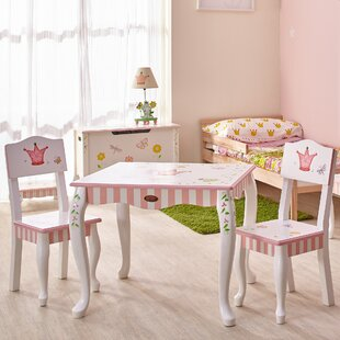 Check Prices Kids 3 Piece Rectangular Table and Chair Set By Fantasy Fields