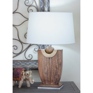 Wood Marble 24 Table Lamp (Set of 2)