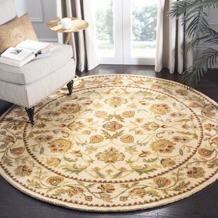 Bergama Hand-Tufted Wool Ivory Area Rug by Safavieh