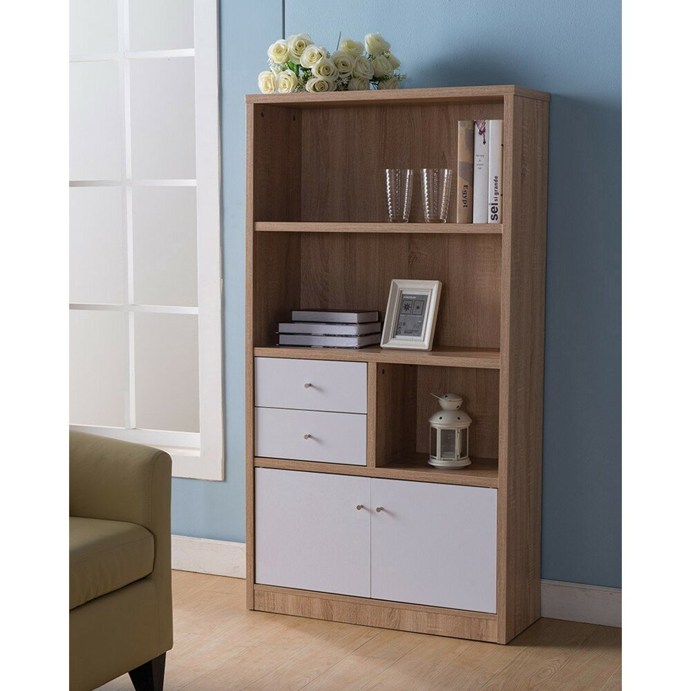 Wrought Studio Holmes Wooden Standard Bookcase | Wayfair