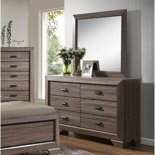 Gracie Oaks Longoria Wood 6 Drawer Double Dr..