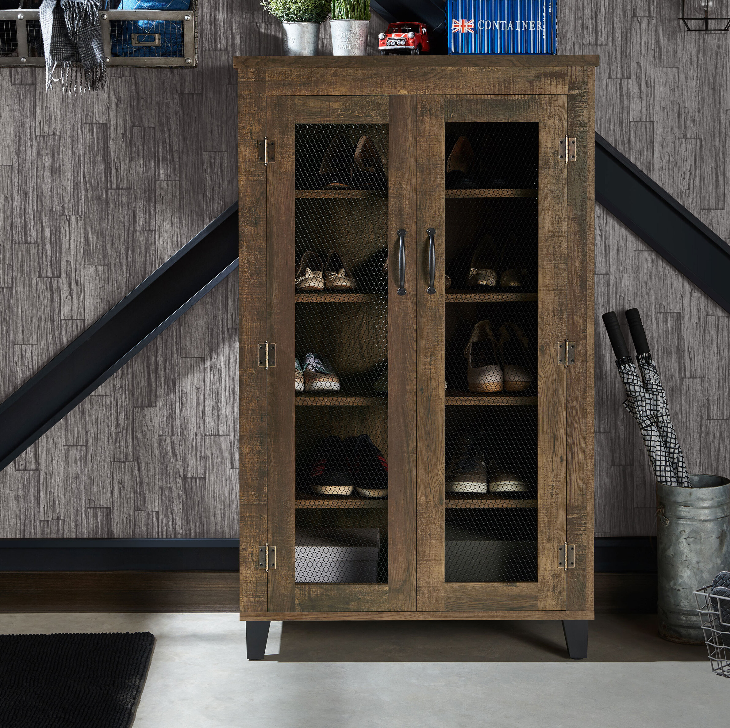Cabinet Union Rustic Shoe Storage You Ll Love In 2021 Wayfair