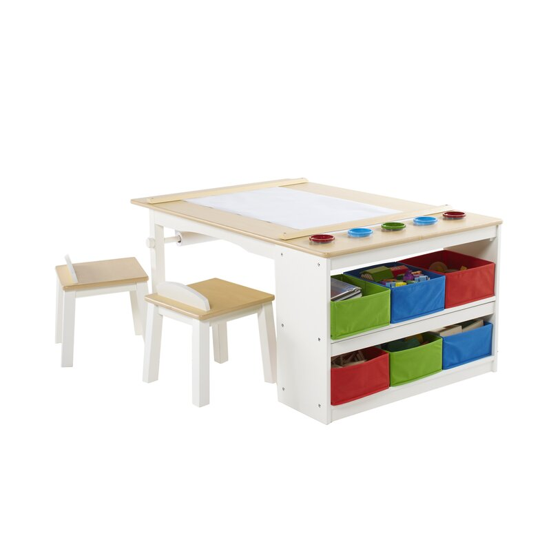 Intermediate Kids 10 Piece Arts U0026 Crafts Table And Chair Set