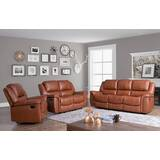 Keziah 3 Piece Leather Reclining Living Room Set by Darby Home Co