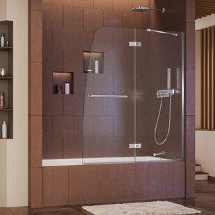 Online Reviews Aqua Ultra 48 x 58 Hinged Frameless Tub Door ByDreamLine
