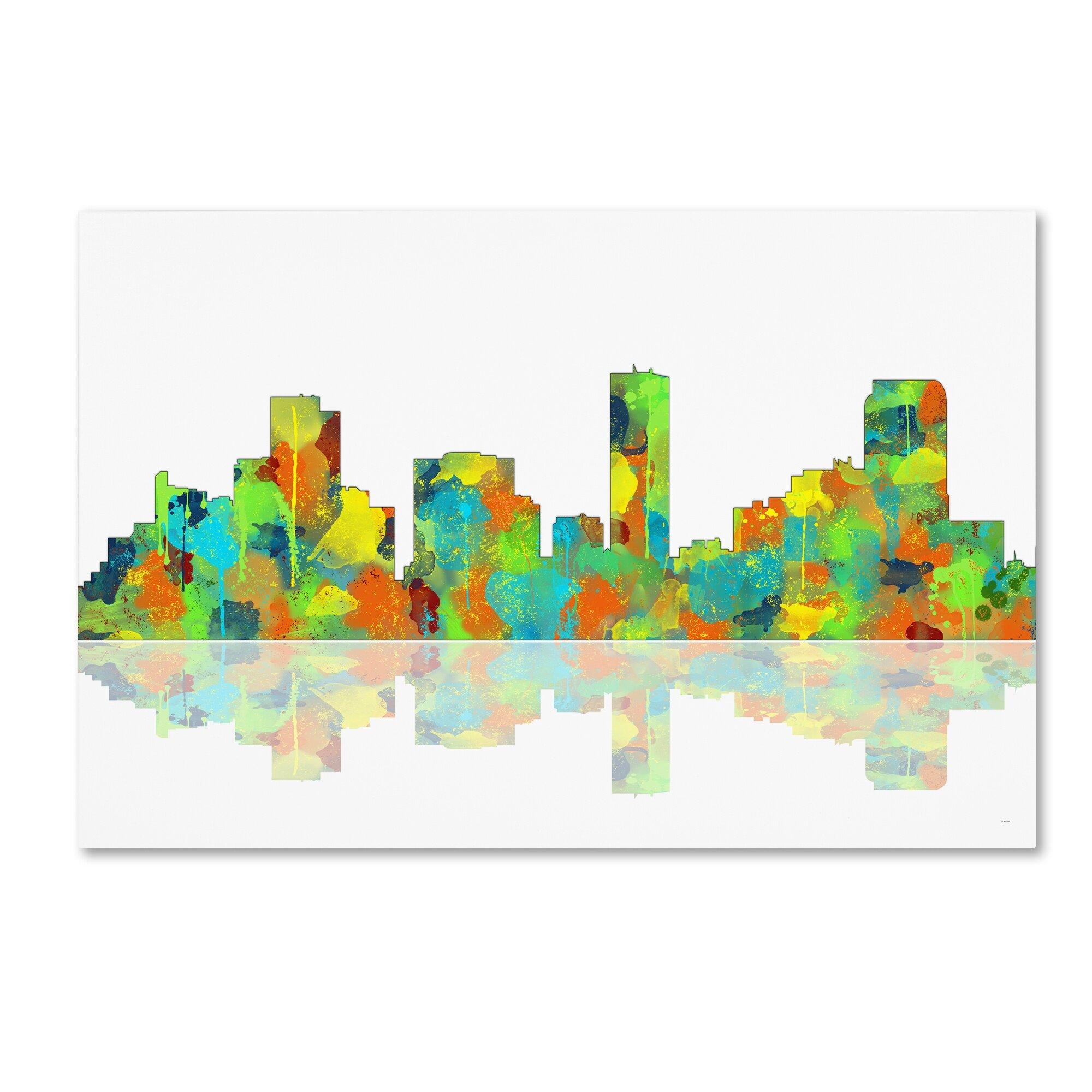 Trademark Art Denver Colorado Skyline Ii Graphic Art On Wrapped Canvas Wayfair