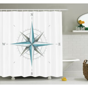 Hoffman Compass Antique Wind Rose Shower Curtain Set