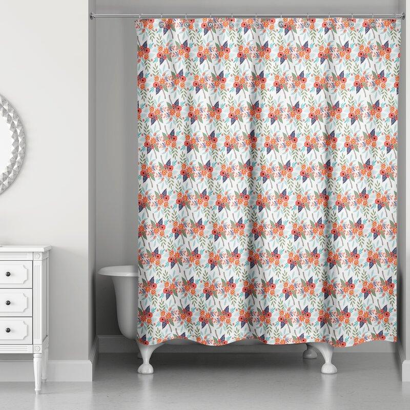 August Grove Barker Ridge Floral Single Shower Curtain Wayfair