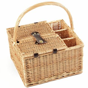 Windsor Willow Picnic Hamper For Four People By Bay Isle Home