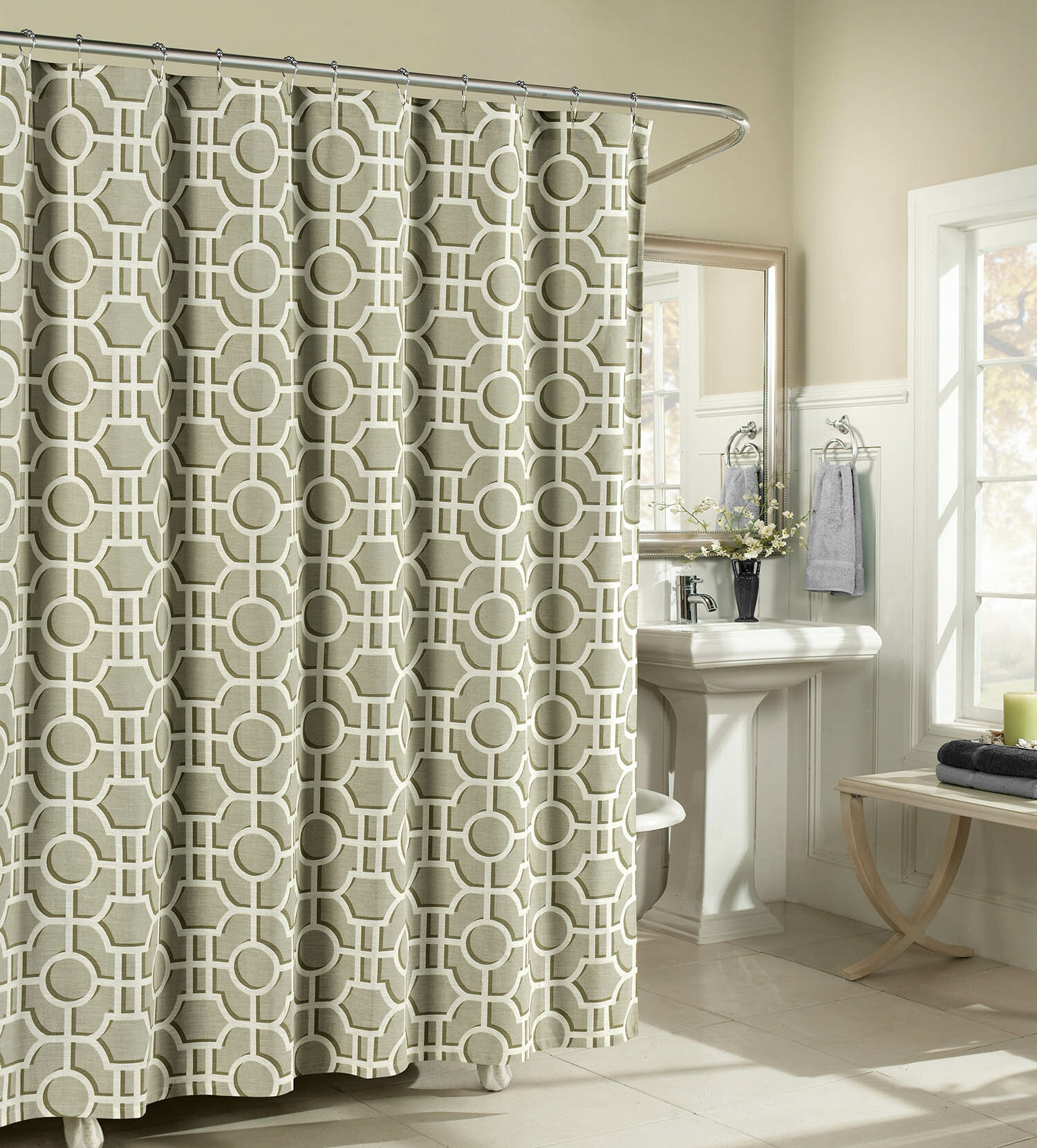 Moskell Cotton Single Shower Curtain