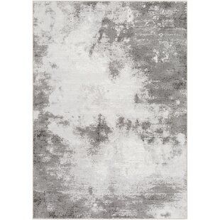 Order Shenk Abstract Light Gray/White Area Rug By Bungalow Rose
