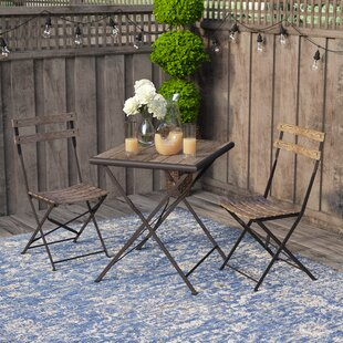 Pensee Folding 3 Piece Bistro Set by Laurel Foundry Modern Farmhouse