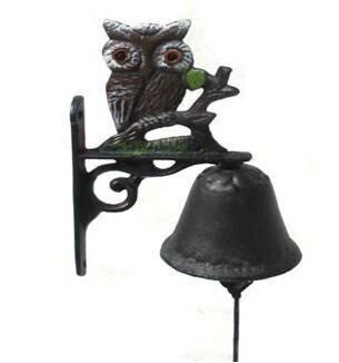 Cast Iron Owl Door Chime