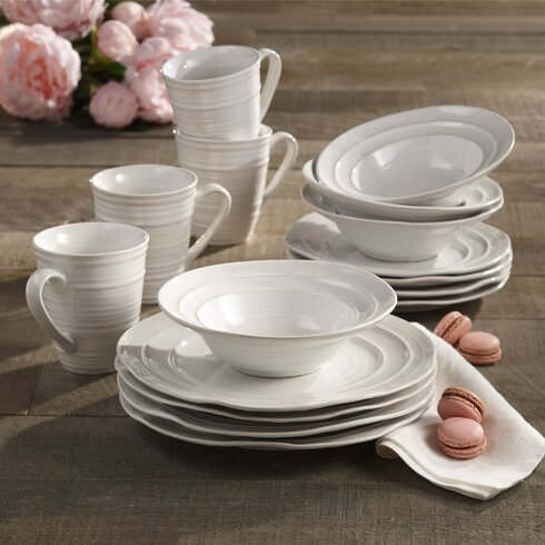 Travertine 16 Piece Dinnerware Set Service for 4 & American Atelier Travertine 16 Piece Dinnerware Set Service for 4 ...