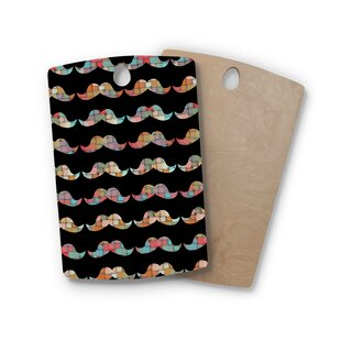 Suzanne Carter Birchwood Patchwork Mo Mustache Cutting Board By East Urban Home
