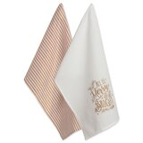 Asst Merry and Bright Christmas Printed 2 Piece Dish Cloth Set