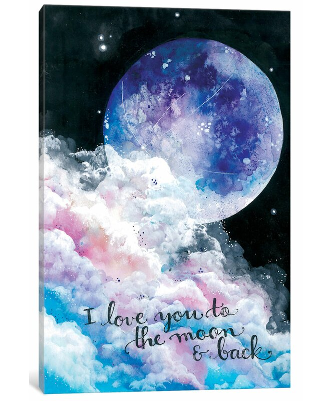 East Urban Home 'To The Moon And Back' Painting On Wrapped Canvas